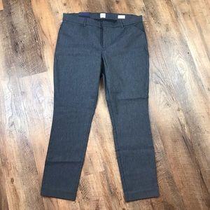 GAP Signature Skinny Ankle Pants Gray Sz 14